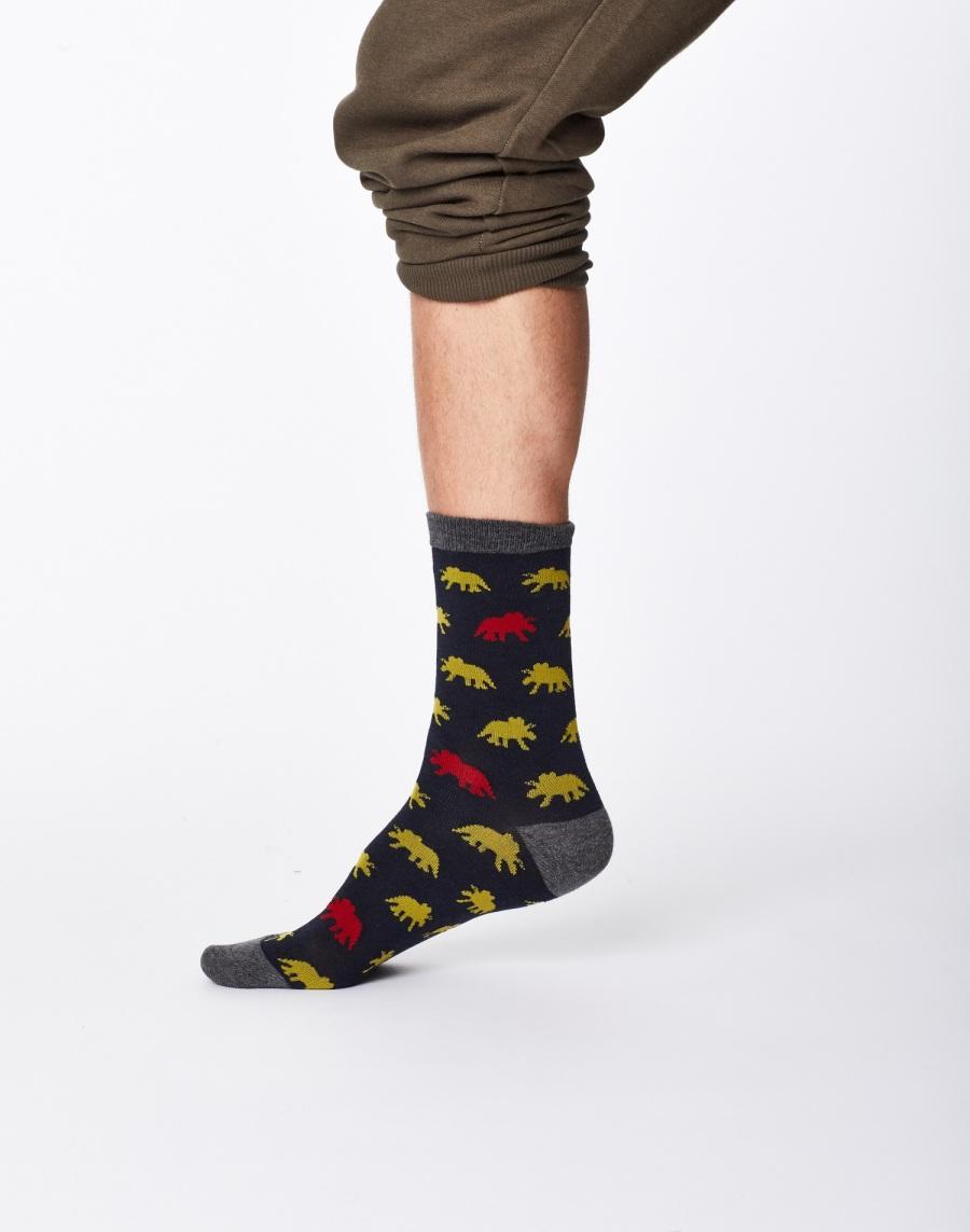 Dinosaur sock present